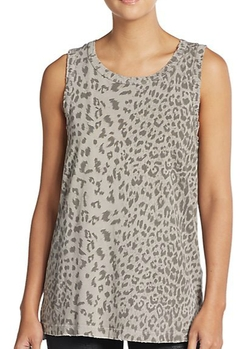 Current/Elliott  - Animal-Print Muscle Tank Top