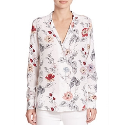 Equipment - Adalyn Long Sleeve Floral Blouse