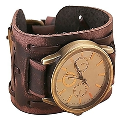 Cocotina - Leather Bracelet Cuff Men Watch