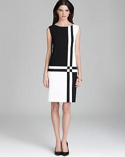 Basler - Sleeveless Color Block Dress