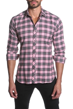 Jared Lang  - Plaid Semi-Fitted Long Sleeve Shirt