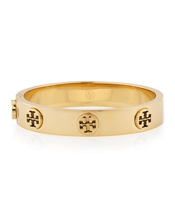 Tory Burch - Logo Stud Hinge Bangle Bracelet