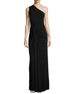 Michael Kors  - One-Shoulder Ruched Gown
