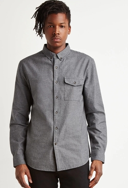 Forever 21 - Textured Woven Pocket Shirt