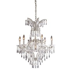 Bed Bath And Beyond - Luxurious Sunset Silver Chandelier