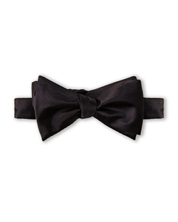 Pierre Cardin - Silk Black Bow Tie