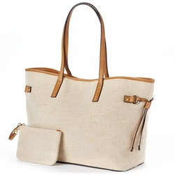 Apt. 9 - Simone Canvas Lurex Tote Bag