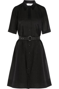 Victoria Beckham - Embroidered Wool-Blend Gauze Dress