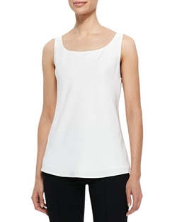 Lafayette 148 New York - Matte Silk Bias Tank Top