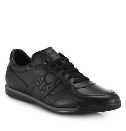 Salvatore Ferragamo - Priamo Leather Logo Sneakers