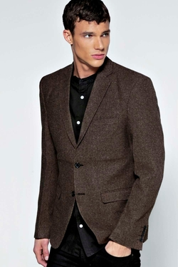Boohooman Night  - Smart Tweed Blazer