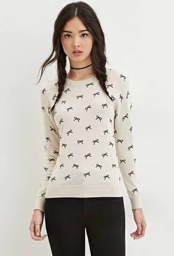 Forever21 - Ribbon Print Sweater