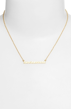 Argento Vivo  - Hammered Bar Pendant Necklace