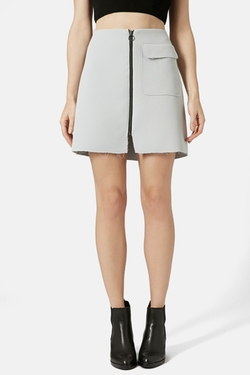 Topshop  - Distressed Crepe A-Line Skirt