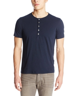 John Varvatos - Short-Sleeve Knit Henley Shirt