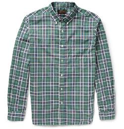 BEAMS PLUS   - PLAID COTTON SHIRT