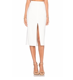 Blaque Label - Center Slit Knit Pencil Skirt
