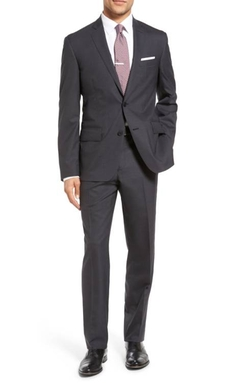 Nordstrom - Tech-smart Trim Fit Solid Stretch Wool Travel Suit