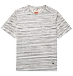 Missoni  - Striped Knitted Cotton T-Shirt