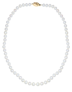 Honora Style - White Pearl & Yellow Gold Necklace