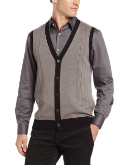 John Henry - Button Front Sweater Vest