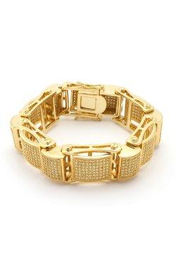 King Ice - 14K Gold Dome Link Bracelet