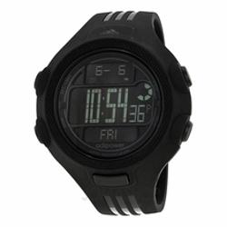 Adidas  - Performance Digital Black LCD Dial Black Rubber Strap Mens Watch