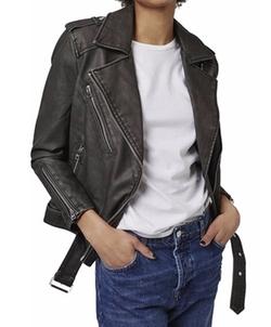 Topshop - Mahoney Faux Leather Biker Jacket
