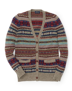 Ralph Lauren Kids - Fair Isle Cotton Wool Cardigan
