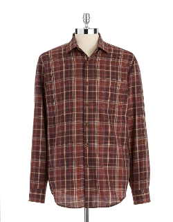Lord And Taylor - 1826 Casual Plaid Button-down Shirt