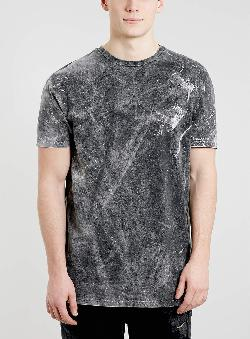 TOPMAN - Black Bleach Skater Shirt