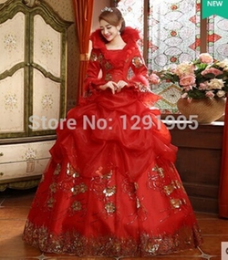 Medieval Cosplay - Laced Rhinestone Victorian Belle Ball Gown
