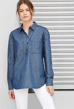 Forever 21 - Chambray Popover Shirt