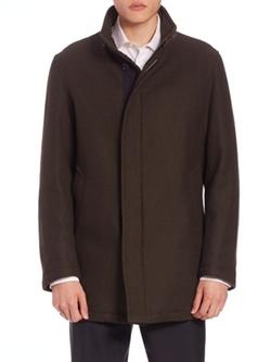 Sanyo  - Water-Repellent Wool Coat