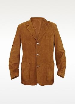 Moreschi  - Rust Suede Blazer Jacket
