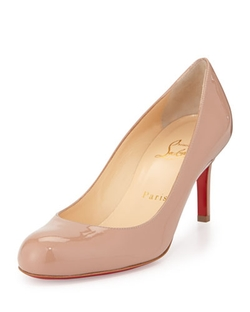Christian Louboutin	  - Simple Patent Red Sole Pumps