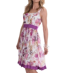 Sierra Trading Post - Sleeveless Floral Chiffon Dress