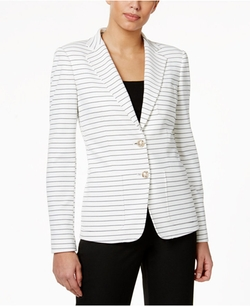 Tommy Hilfiger - Striped Two-Button Blazer