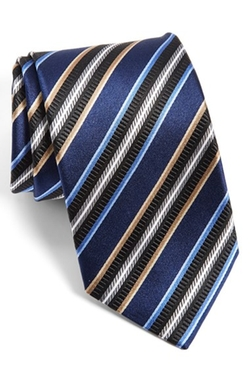 J.Z. Richards  - Stripe Silk Tie
