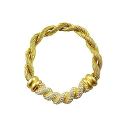 Givenchy Pavé - Twisted Cloth Necklace