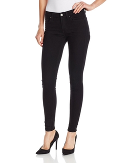 7 For All Mankind - Skinny Jeans In Slim Illusion Elasticity Black