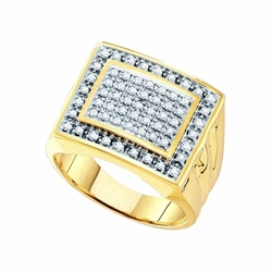 JSC - Diamond Mens Cluster Ring