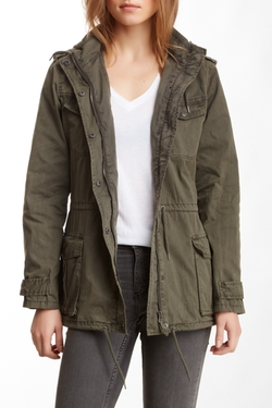 Bnci By Blanc Noir - Garment Washed Field Jacket
