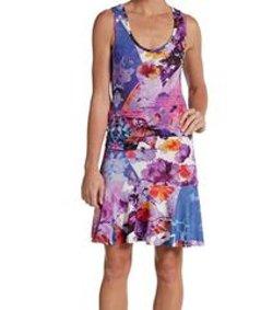 Nicole Miller Artelier - Floral-Print Jersey Tank Dress