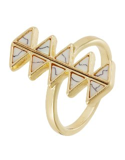 House Of Harlow 1960 - Triangle Statement Accented Ring