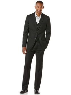 Perry Ellis - Regular Fit Herringbone Suit