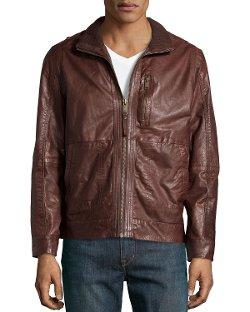 Andrew Marc - Vandam Tumbled Leather Jacket