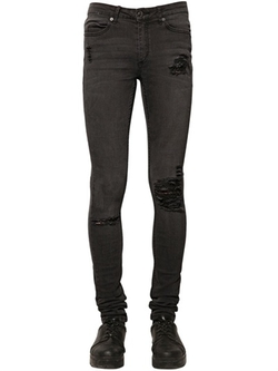 Cheap Monday  - Washed Stretch Cotton Denim Jeans