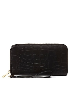 Charlotte Russe - Gator Zip-Around Wristlet Wallet Bag