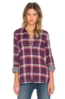 Splendid - Hunter Plaid Button Up Top